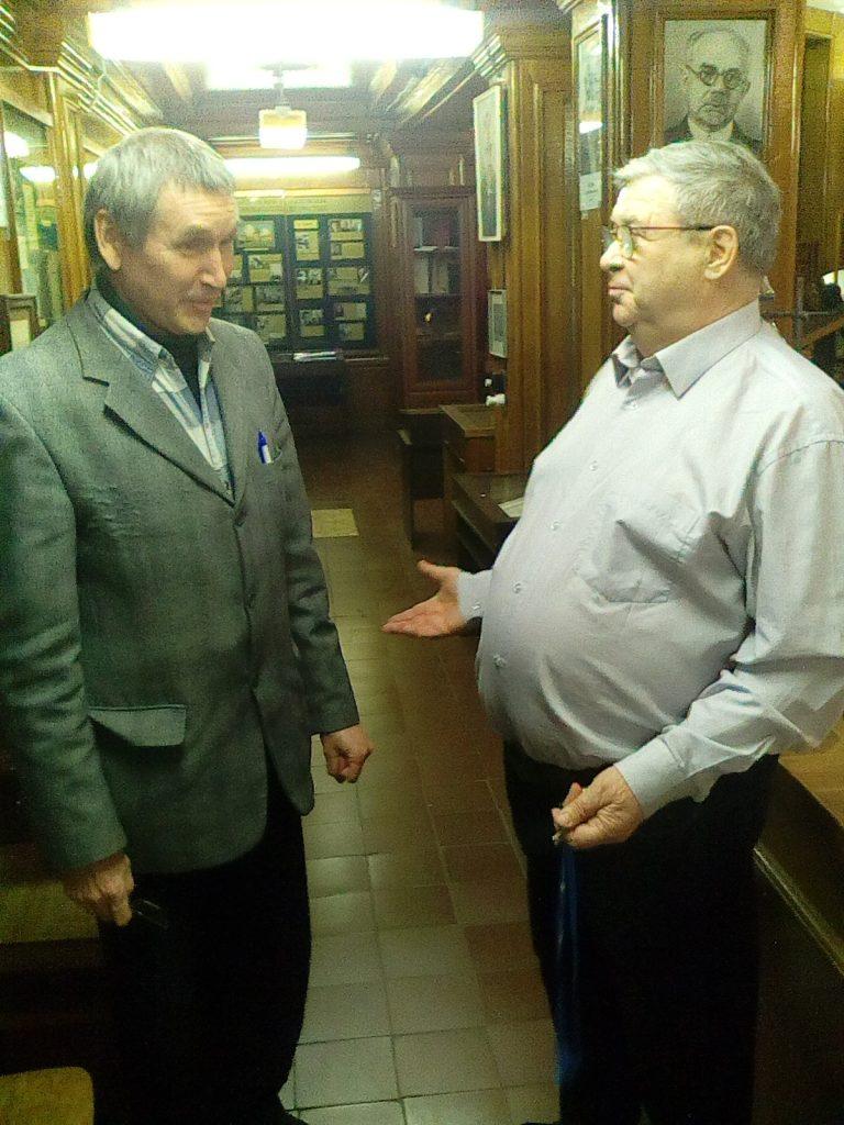 Александр Сергеевич Илюшин и Сорокин Геннадий Михайлович музей физики МГУ