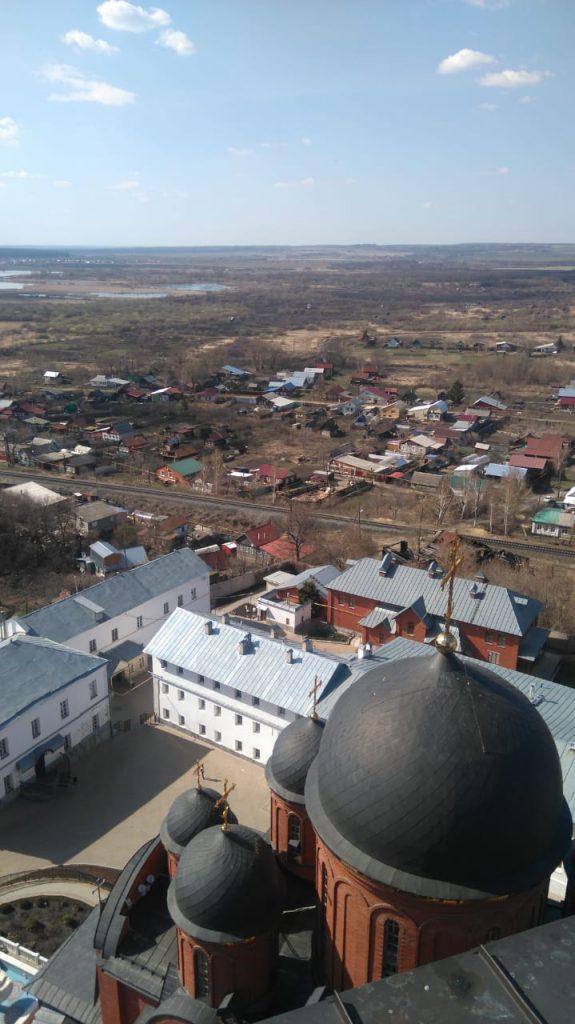 Вид с колокольни Алатырьского мужского монастыря