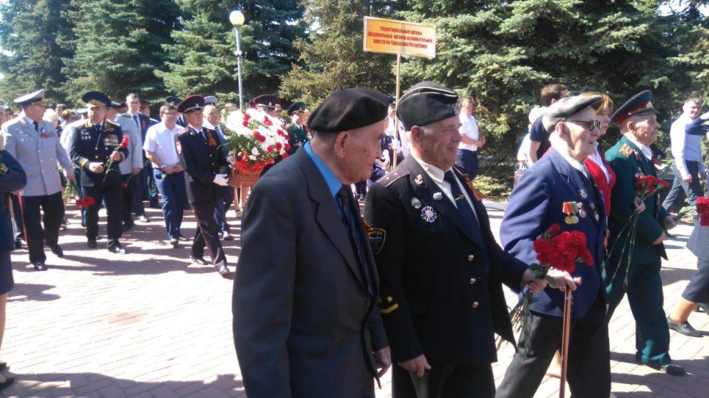 Участники ВОВ в парке Победы